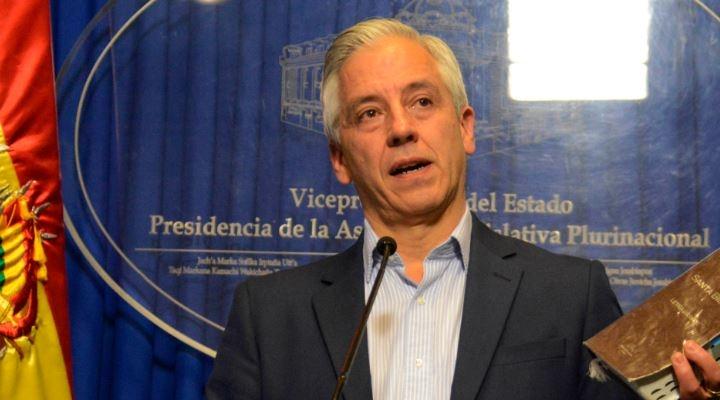 """García Linera, a la pregunta si Evo renuncia: """"Es como preguntar si enterramos la democracia"""""""