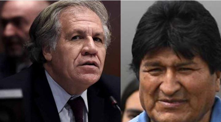 """Evo dice que la OEA se sumó al golpe de Estado y Almagro le dijo que el """"golpe"""" es el fraude electoral"""