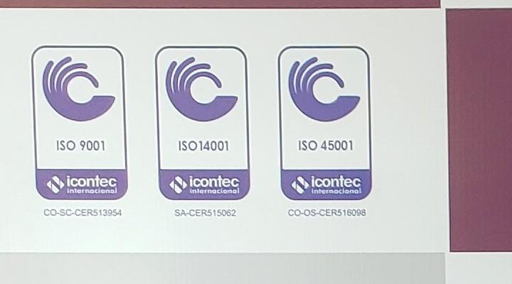 COFAR recibe triple certificación ISO