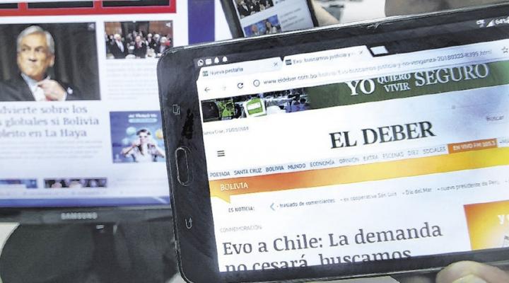 No circulan ejemplares impresos, los diarios fortalecen sus portales digitales