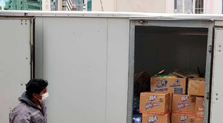 Unilever dona productos de desinfección a hospitales de Santa Cruz
