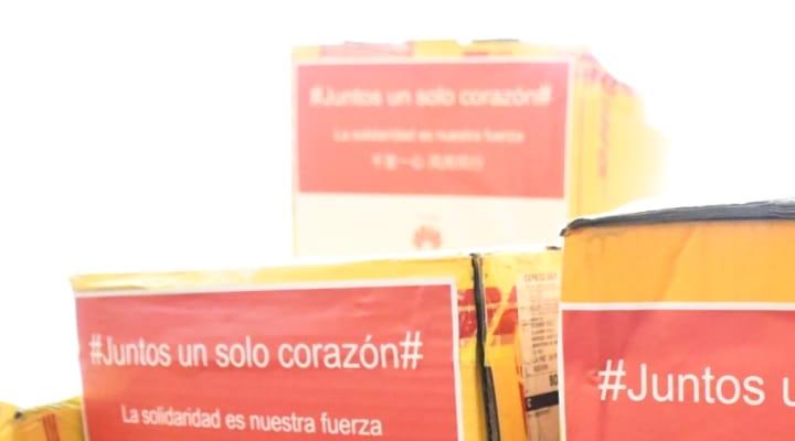 Huawei entrega donación de 50 mil mascarillas y 500 trajes de bioseguridad para hospitales