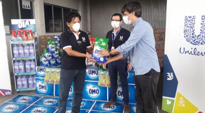 Unilever dona 2,5 toneladas de desinfectantes para hospitales del Beni