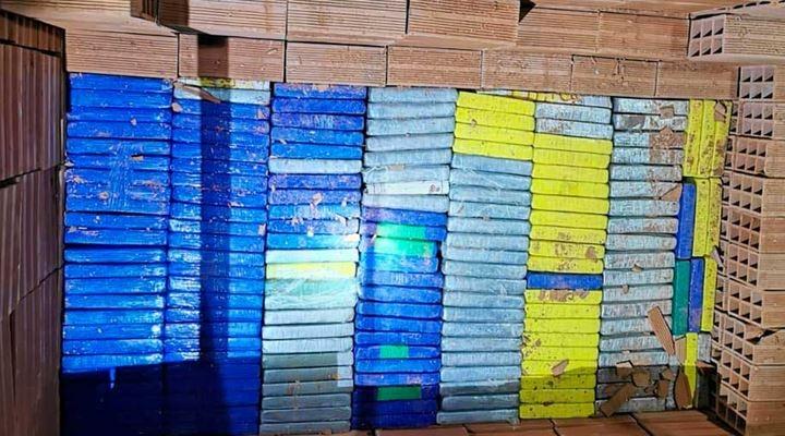 Confiscan 209 kilos de droga de máxima pureza, una parte era trasladada en medio de ladrillos