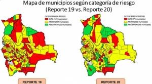 Municipios con riesgo alto de contagio de COVID-19 bajan de 123 a 71
