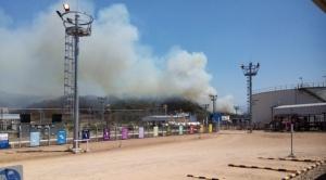 Controlan incendio forestal cerca de planta Incahuasi