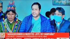 """Arce anuncia que """"reconducirá el proceso de cambio"""" y """"gobernará para todos los bolivianos"""""""