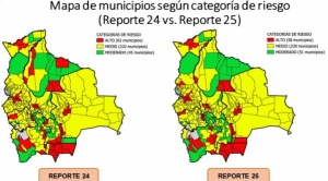 Municipios con riesgo alto de contagio de COVID-19 rebajan por cuarta vez consecutiva, llegan a 58 1