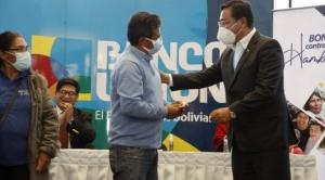 El presidente Luis Arce inicia el pago del Bono Contra el Hambre