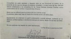 Justicia asegura que infractora en la firma del presidente será investigada y afrontará a la justicia boliviana