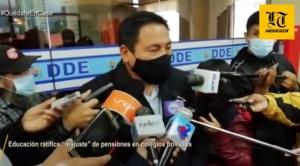 """Educación en Cochabamba ratifica """"reajuste"""" de pensiones en colegios privados"""