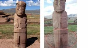 Cinco turistas son procesados por daños en las ruinas de Tiwanaku 1