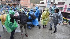Cocaleros de Adepcoca y del MAS protagonizaron enfrentamientos en la zona de Kalajahuira por segundo día consecutivo