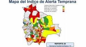 Santa Cruz, Beni y Pando concentran a 27 de los 45 municipios con riesgo alto de contagio de Covid-19