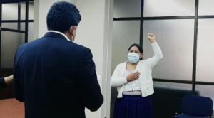 Arminda Choque es la nueva directora ejecutiva de Aasana 1