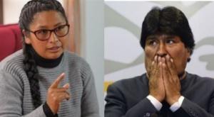 """Evo Morales le dice """"traidora"""" a Eva Copa y ella le responde que """"traidor es aquel que huye"""""""