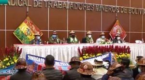 Arce entrega edificio de más de Bs 13 millones a dirigentes mineros en La Paz