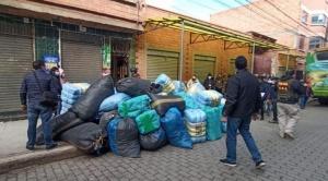 Aduana decomisa 71 toneladas de ropa usada valuada en 1,5 millones de bolivianos