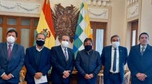 Choquehuaca habla de un acuerdo público-privado con los empresarios para reactivar la economía  1