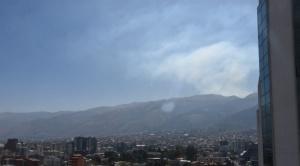 Reportan de un incendio de magnitud en Villa Tunari