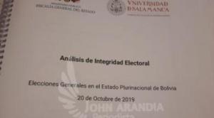 Bolivia pagó 216.193 Bs por el informe con el que se cerró la investigación del fraude