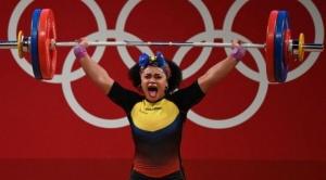 Tokio: Neisi Dajomes, el peso emocional que carga sobre sus hombros la pesista ecuatoriana que logró oro 1