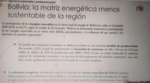 Experto afirma que las emisiones de CO2 aumentaron 13% la última década en Bolivia