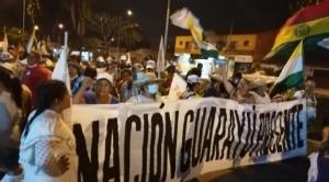 Marcha indígena llega a la plaza 24 de Septiembre en busca de diálogo con el Gobierno