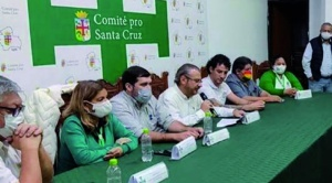 Alcaldías del eje y Gobernación de Santa Cruz acatarán el paro del lunes