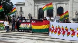 Bolivianos en Washington protestan en contra del gobierno de Luis Arce que insiste en que no hubo fraude 1