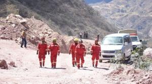 Cochabamba: continúan trabajos para encontrar a mineros sepultados por derrumbe