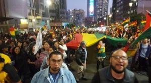 Decenas de miles de personas concentradas para participar en el Cabildo Abierto Paceño