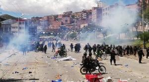 """Violentas protestas en Potosí durante cierre de campaña del MAS; Morales dijo que son """"una provocación"""""""