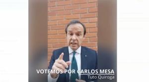 Tuto Quiroga pide a los bolivianos votar por Mesa en las elecciones