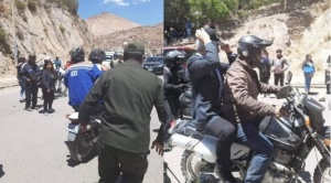 Morales y García Linera fueron trasladados en motos a su helicóptero en Potosí