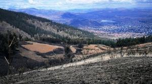 Cochabamba: luego de incendio supuestos comunarios preparan loteamiento del Parque Tunari 1