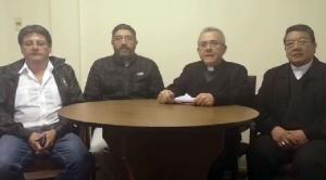 La Iglesia Católica hace un llamado a la pacificación