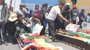 """IDIF: muertes en Sacaba fueron por """"armas largas"""" y el único proyectil colectado es analizado 1"""