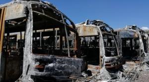 Identifican a dirigentes de sindicatos de choferes como responsables por la quema de 64 buses