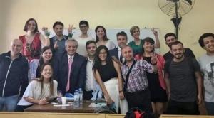 """""""Es un gran docente"""", dijo una estudiante sobre Alberto Fernández como profesor"""