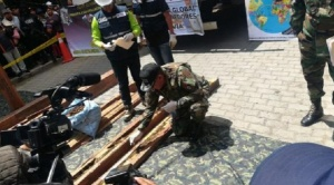 FELCN incauta más de una tonelada de cocaína camuflada en madera que pretendía ser exportada a Europa