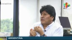 Evo Morales sostiene que prefiere estar encarcelado en Bolivia que perjudicar a Argentina