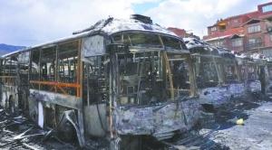 La empresa aseguradora Fortaleza repondrá los 66 buses PumaKatari que fueron quemados 1