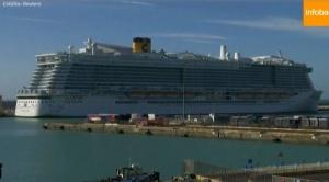 Un crucero con 7.000 personas quedó en cuarentena en Italia por sospechas de un caso de coronavirus