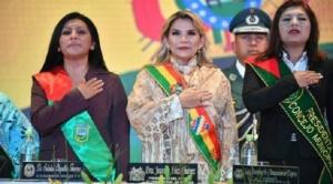"""Añez promete inversión de $us 100 millones para El Alto, fue abucheada y tildada de """"asesina"""" cuando se retiraba"""