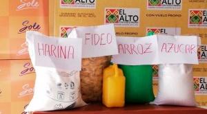 El Alto entregará 80 mil canastas de alimentos y la Iglesia hará de fiscalizadora