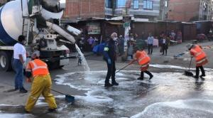 Unilever y Soboce inician tareas de desinfección de espacios públicos