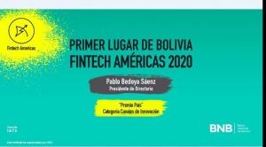Ejecutivo del BNB obtiene primer lugar en Innovadores Financieros en las Américas 2020