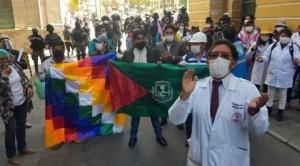 Sirmes La Paz realiza la toma pacífica de oficinas del Sedes departamental 1