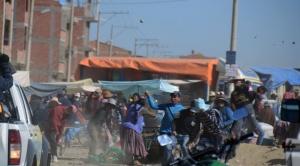 Primer día de encapsulamiento en El Alto: infractores dejan ocho heridos y apedrean a 7 vehículos